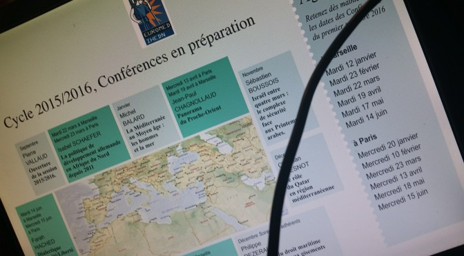 CONFERENCE EUROMED IHEDN 17 et 18 novembre 2015 VILLA MEDITERRANEE ET ECOLE MILITAIRE
